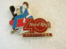 BARCELONA,Hard Rock Cafe Pin,40th Anni Girl,DECADES
