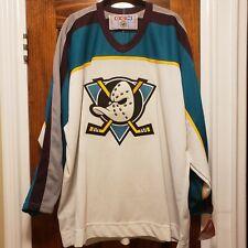 Vtg CCM Anaheim Mighty Ducks NHL Hockey Jersey Size XL NWT Deadstock