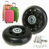 2x Luggage Suitcase Black Wheels OD 70mm Axles Deluxe Repair Replacement Parts