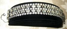Sherman Jewels of Elegance - Signed Sherman Clear Ice Bracelet 5 Stones Wide
