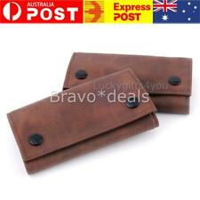 Tobacco Pouch Full Grain Buffalo Hide Brown High Quality Vintage Leather