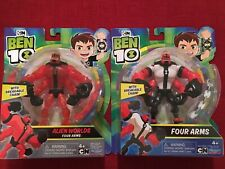 Ben 10 Lot of 2! Four Arms & Alien Worlds Four Arms Action Figure  NEW