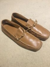 TODS LEATHER TAN CAMEL LOAFERS SHOES SLIP ON DRIVING Moccasins SHOES UK 10