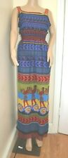 MARY KATRANTZOU Greek Minoan Print silk long maxi dress New UK 12 US 8 £1125!!