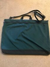 """Used 26"""" x 20"""" Green Portfolio Bag with Hard Back and Clip"""