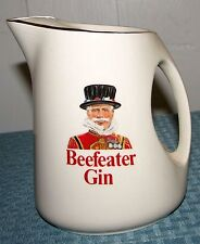 """Wade England Beefeater Gin 5 7/8"""" 24 oz. Pitcher With Gold Trim - Very Good Con"""