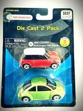 Kid Connection Die-Cast 2 Pack VW New Beetle & Mini Cooper 15080-1601