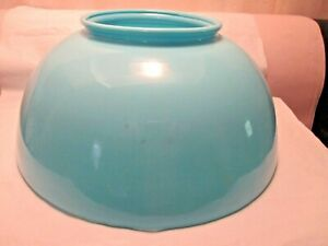 "ANTIQUE~~10"" BLUE MILK GLASS SHADE~~~H.T.F."