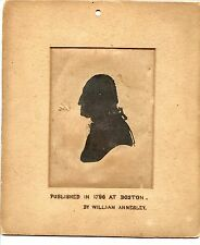 1796 George Washington Silhouette Print, William Annesley, Third Known