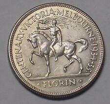 1934-35 Melbourne Centenary florin, Extremely Fine and scarce.