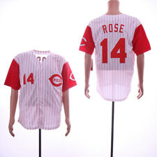Cincinnati Reds Throwback Home Jersey #11 Larkin #14 Rose #17 Sabo #21 Sanders