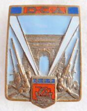 insigne WWII DCA de PARIS Défense Contre Aéronefs ORIGINAL AB déposé BADGE
