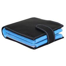 Rallegra Large Men's Wallet | Black & Light Blue | RFID Blocking | Soft Nappa le
