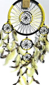 indianer,50x25cm,traumfänger,5 ringe,dreamcatcher,magie,mystik,usa,