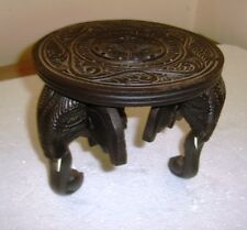 Handmade Wooden Elephant Round Table Flower Pot Stand table Home Decor IdealGift
