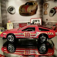 2009 Hot Wheels Dmc Delorean Red Loose