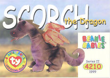 Ty Beanie Babies Bboc Card - Series 2 Common - Scorch the Dragon - Nm/Mint