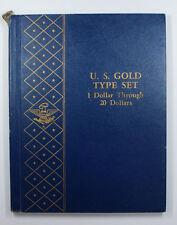 Empty Whitman Book US Gold Type Set 1 Dollar Throught 20 Dollars No.3453 Rare