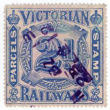 (I.B) Australia - Victoria Railways : Parcels Stamp 2d
