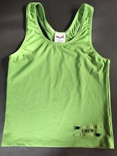 Val's Rowing Green Spandex Racing Tank Women's S/P W Embroidered Crew Oars