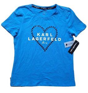 Karl Lagerfeld Paris Heart Tee T-shirt Top Women's Size Medium  NEW!