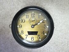 Ww2 Us Navy 1942 Seth Thomas Mark I-Deck Clock Bakelite Case Brass Face
