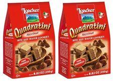 Quadratini Bite Size Wafer Cookies Hazelnut 2 Bag Pack