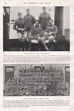 1900 BOER WAR OFFICERS OF 8TH FIELD BATTERY, A BATTERY GROUP, 2 IMAGES