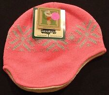 New Childrens Hempys Hemp & Organic Cotton Winter Cap Pink Made in USA