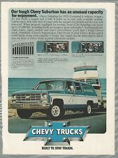 1979 Chevy SUBURBAN advertisement, big Chevrolet truck towing boat