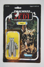 Vintage Star Wars ROTJ: TEEBO Ewok with 77 Cardback, Kenner 1984 NO COO