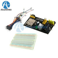 65PCS Jump Cable Wires+MB102 400 Point Solderless PCB Breadboard+Power Supply