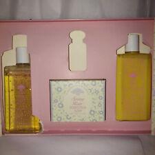 crabtree evelyn spring rain lotion, bath gel soap set