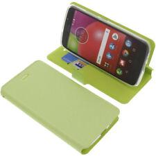 étui pour Lenovo / Motorola Moto E4 style Livre ETUI COQUE HOUSSE PORTABLE VERT