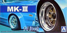 "Aoshima 1/24 MK-III 14"" Wheel Rims & Tire Set For Plastic Models 5389 (56)"