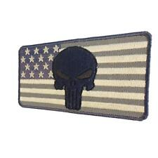 punisher skull USA flag ACU american tactical bordado parche sew iron on patch