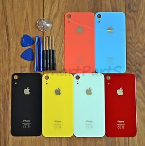 Rear Back Glass Housing Battery Cover Replacement For Apple iPhone XR with TOOLS
