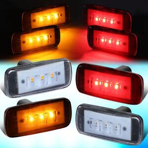 FOR 2010-2017 RAM TRUCK 3500 DUALLY DENDER LED SIDE MARKER LIGHT LAMP 4PC CLEAR
