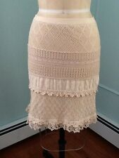 Cynthia Steffe beige knit fully lined skirt size Small