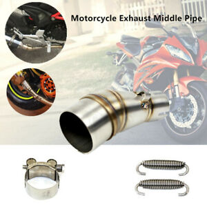 Motorcycle Exhaust Middle Pipe StainlessSteel Muffler Mid Section Adapter 35.5mm