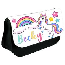 Personalised UNICORN Make Up / Clutch Bag / Pencil Case - Back to School Gift