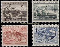 EBS Czechoslovakia 1952 - Physical Education and Sport - 749-752 MNH**
