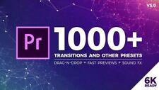 Adobe Premiere Pro 1000+ Seamless Transitions V.5  Drag-n-Drop Digital Download