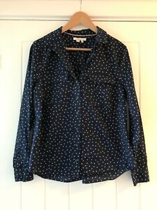 Spotty blue shirt/blouse - size 16 Boden blue & white (pre-owned-good condition)