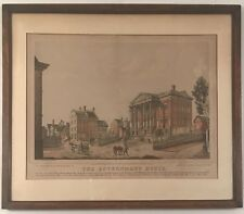 The government house lithograph. New York history printed in 1847 by Robinson.