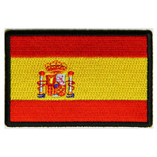 Embroidered Spain Spanish Flag Sew or Iron on Patch Biker Patch