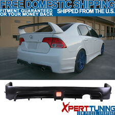 06-11 Civic 4Dr Sedan Mugen RR Rear Bumper Lip Spoiler + LED 3Rd Brake Light