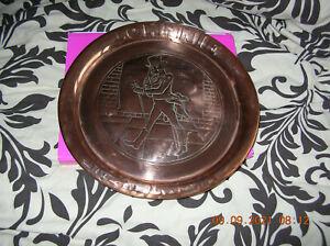 Vintage Johnnie Walker Copper Tray