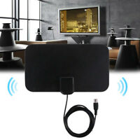 Super Mini Thin Flat Indoor Antenna Aerial HD TV Fox Scout HDTV VHF UHF DTV 25DB