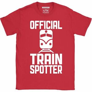 Train spotter t shirt Official Trainspotter funny t shirt